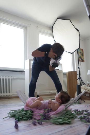 Making Of beim Baby Fine Art Shooting mit Roza